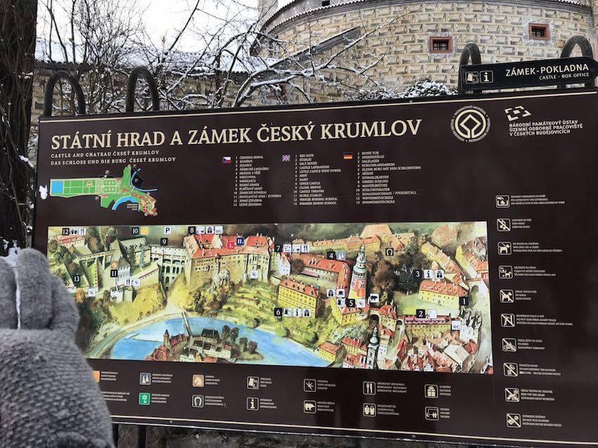карта города Чески Крумлов