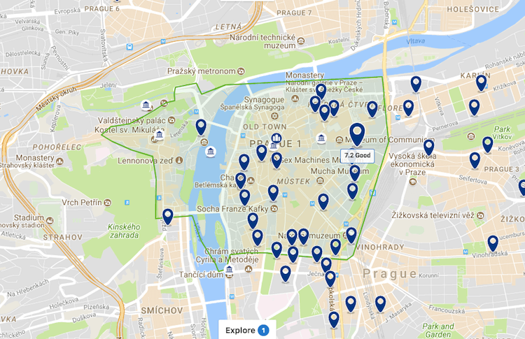 Районы Праги для туристов
