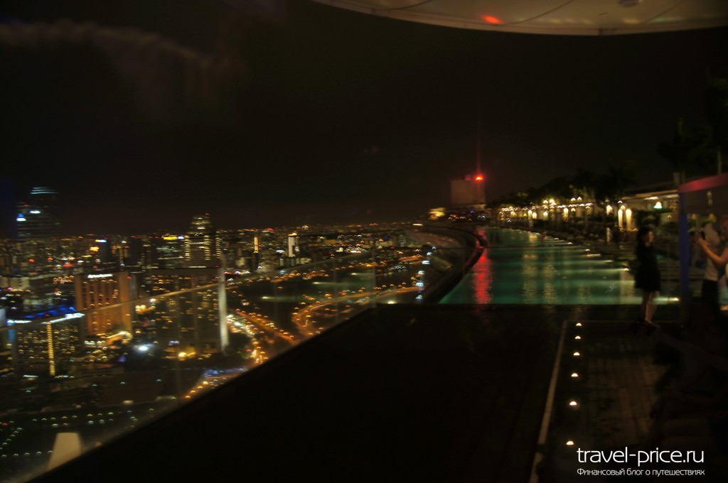 Сингапур Marina Bay Sands смотровая площадка