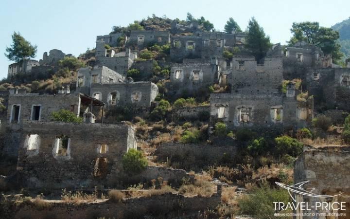Заброшенная деревня Каякей и улица пустующих домов в Фетхие