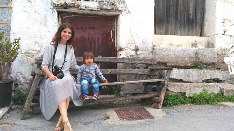На авто плато Лассити, деревни Краси и Мохос