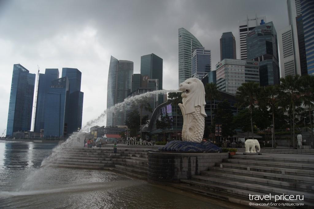 достопримечательность Сингапура Мерлион
